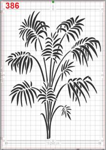 Tropical Palm Plant Stencil MYLAR A4 sheet strong reusable wall art craft deco