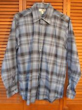 Joseph Abboud Blue, Black and Red Plaid Long Sleeved Shirt Men's Size Large