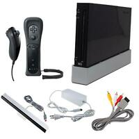 Nintendo Wii Black Video Game Console (RVL-001) GameCube Compatible *Discounted*