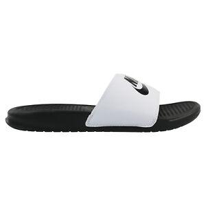 Nike Benassi Badeslipper Badeschuhe Badeschlappen Herren 343880 100 Weiß