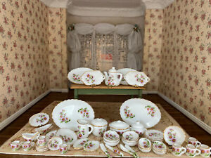 Vintage Miniature Dollhouse MASSIVE Collection Hand Painted Porcelain Dishes UK