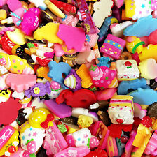 50g. Mix Assorted Food Cup Cake Fruit Candy Resin Flatback Scrapbooking Buttons