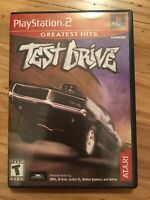 TEST DRIVE GREATEST HITS - PS2 - COMPLETE W/MANUAL - FREE S/H (L)