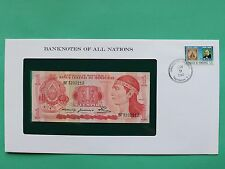 1980 Honduras 1 Lempira Uncirculated Franklin Mint Banknote Cover SNo46114