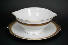 Rosenthal Porcelain White & Gold Band Gravy Boat 5169