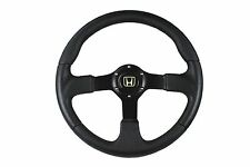 BLACK F2 SPORTS STEERING WHEEL 350mm 6x70mm fits Momo OMP boss kit HONDA