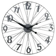 60cm Industrial Style Metal Wall Clock Modern Bicycle Design Retro Contemporary