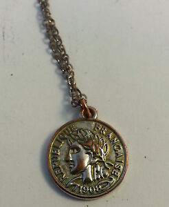 republique francaise necklace charm
