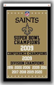 New Orleans Saints Football Team Champion Flag 90x150cm 3x5ft Fan best banner