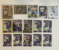 Minnesota Vikings Football Card Alexander Mattison Adam Thielen Randy Moss Prizm