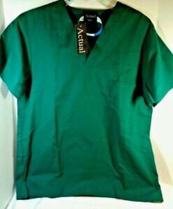 Forest Green Scrub Top  New  Size Medium  Actual Brand 1 chest pocket