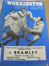 09/04/1978 Rugby League Programme: Workington Town v Bramley (slight fold)