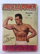 December 1945 Muscle Power Body Building Magazine Clarence Ross Cover