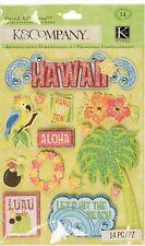 K & Company Citronella Hawaii Palm Tree Luau Grand Adhesions New