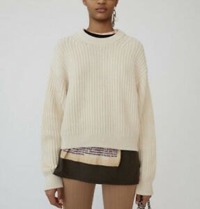 ACNE STUDIOS Sweater, Chunky Knit 100% Wool Jumper, Size S, BRAND NEW Rrp$750