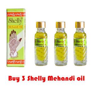 Shelly Mehandi Henna Oil for Darkening Henna - 3 Bottles