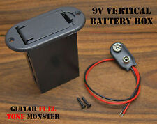 TONE MONSTER 9V Vertical Battery Box w/ Battery Clip & Mounting Screws