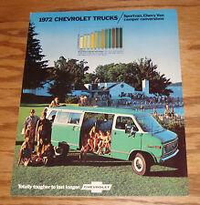Original 1972 Chevrolet Truck Sportvan Chevy Van Camper Sales Brochure 72