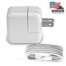 12W USB Power Adapter Wall Charger for Apple iPad 2 3 4 Air & 2M Cable