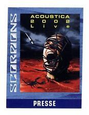Scorpions - Acoustica 2002 Live - Konzert-Satin-Pass Presse - Sammlerstück