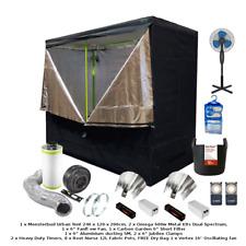 "Best Complete Grow Room Full Setup 2.4m Tent 6"" Fan Filter 2x 600w Light Kits"