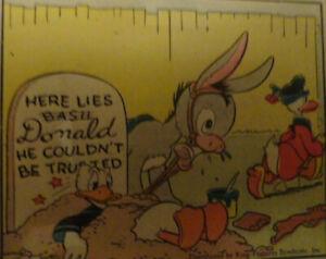DONALD DUCK MICKEY MOUSE Sonntagsseite Fullpage 09.02.1941 Taliaferro Full Color