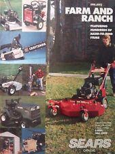 Sears 1992 Craftsman Farm Catalog Color Lawn Garden Tractor Tools Tiller Chainaw
