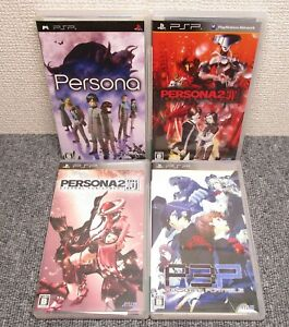 PSP Persona 1 & 2 Sin & Punishment 3 set Japan PlayStation Portable
