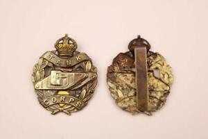 WW1 BRITISH ARMY MILITARY ROYAL TANK CORPS BRASS CAP BADGE FIRST WORLD WAR
