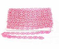 Rhinestone Diamante Lace Ribbon Trim for DIY Embellishment Dresses Multi Craft