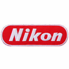 Nikon Camera Red Digital Film Photography Iron-On Patches Jacket T Shirt #E020