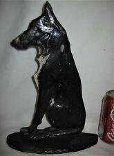 """Rare!"" Antique Usa Sign Studios Cast Iron German Shepherd Dog Home Doorstop"