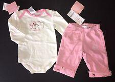 NWT Gymboree Dog Park 0-3 Months Puppy Bodysuit & Reversible Pink Knit Pants
