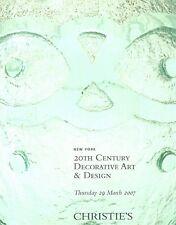 Christie's 20th Century Decorative Art & Design Auction Catalog 2007