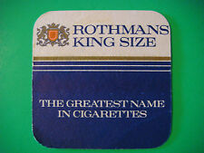 Beer COASTER MAT: ROTHMANS King Size Tobacco Cigarettes ~ Founded 1890 in the UK