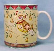 Partridge in a Pear Tree Mug Twelve Days of Christmas 222 Fifth As Is Condition