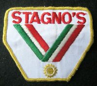 "STAGNOS EMBROIDERED SEW ON ONLY PATCH ADVERTISING UNIFORM HAT JACKET 3 1/2"" x 3"""
