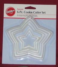 Stars, Nesting Cookie Cutter Set, Plastic, Wilton,Stackable Tree Set,Holiday