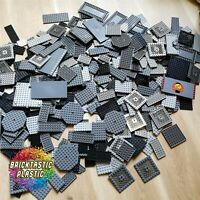 LEGO PLATE PACKS (x55pc's) - GREYS & BLACK MANY SIZES CREATIVITY PACK - 500G