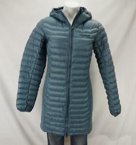 Marmot Women's 700 Fill Down Puffer Jacket Long Blue Small