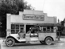 Old Photo. Santa Ana, California.  Fire Truck