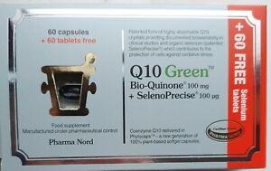 Pharma Nord Q10 Green Bio Quinone 100mg 60 caps and 60 FREE SelenoPrecise