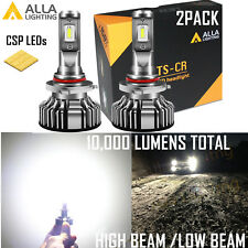 Alla Lighting LED EZ Fit 9012 Headlight High|Low Beam Bulb Super Bright|DRL VS
