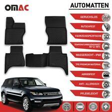 Fußmatten für Land Rover Range Rover LW 2013-2021 Passform Hoher Rand Schwarz