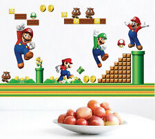 NEW Super Mario Bros Removable HUGE 50 Wall Stickers Decal Kids Home Decor USA