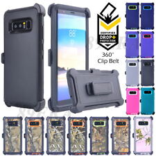 Hybrid Case Shockproof Cover, Belt Clip Fit Otterbox For Samsung Galaxy Note 8