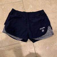 Women's Colosseum Notre Dame Running Shorts Waist Measurement 14 Across