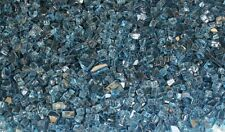 "60lbs Fireglass Aqua Blue 1/4"" for Firepits & Fireplace Crushed glass"