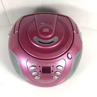 Audio Solutions Small Pink CD AM/FM Portable Boom Box ATC-2720