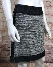 Worth Skirt Size 0 Short Black Tweed Style